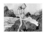 Junge Frau am Strand  um 1925