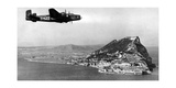 Aircraft of the Raf over Gibraltar  1930's