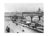 Nikolai-Bridge in Saint Petersburg  1916