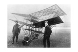 Aviation Pioneers Next to a Homemade Flying Machine  1908