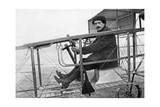 Maurice Collieux in a Flying Machine in France  1911