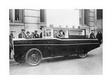 Amphibienfahrzeug auf einer Straße in den USA  1926
