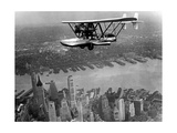 Amphibian Flying over New York City  1932