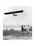 Pilot's License Applicants Start a Hang Glider  1930