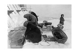 Women Do their Laundry in Leningrad  Winter 1925/26