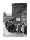Crowd Standing in Line for Theater Tikets  1942