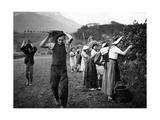 Weinernte im Haut-Grésivaudan in Südfrankreich  1943