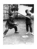 Chinesische Jungen beim Baseballspielen  1928