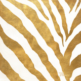 Gold Contemporary Zebra (gold foil)