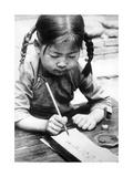 Chinese Girl Writing  1940