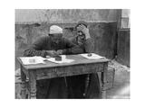 Straßenschreiber in Kairo  1925