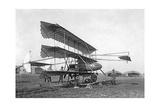 Dreidecker-Flugzeug von Louis Paulhan  1911