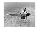 Mann spielt Golf auf einem Flugzeug  1925