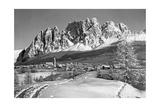 Die Kleinstadt Cortina d'Ampezzo in den Südalpen  1930er Jahre