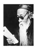 Alter chinesischer Gelehrter in Gansu  1930er Jahre
