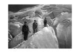 Überquerung eines Gletschers im Jungfraugebiet  1929