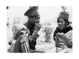 Mexikanischer Soldat mit Frau  1936