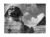Chephren-Pyramide und Sphinx in Gizeh  1933
