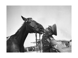 Soldier with His Horse  1930S