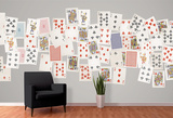 Creative Collage Vintage Playing Cards - 64 piece Wallpaper Collage