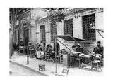 Straßencafe in Istanbul  1927