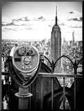 Telescope on the Obervatoire Deck  Top on the Rock at Rockefeller Center  Manhattan  New York