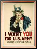 I Want You for the US Army Recruitment Poster
