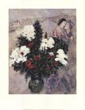 Lilas blancs Reproduction d'art par Marc Chagall