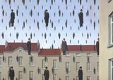 Golconde Reproduction d'art par Rene Magritte
