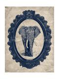 Framed Elephant in Navy