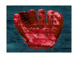 Baseball Glove - Red and Teal