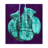 Boxing Gloves - Purple and Teal