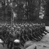 Goose-Stepping German Troops in a Victory Parade Through Warsaw  Poland Sept 1939
