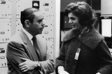 Atomic Energy Commission Manager Sam Sapirie Talks with Jackie Kennedy