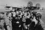 Soviet (Russian) World War 2 Ace Mikhail Avdeev with American Pilots