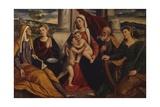 Holy Family with Saint John the Baptist  1st Half of 16th C  Italy