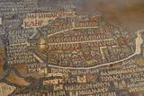 Madaba Mosaic Map Detail of Jerusalem  542-570