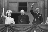 British Royal Family Waves to Crowds on Victory in Europe Day  May 8  1945