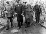 General Dwight Eisenhower with Prime Minister Winston Churchill