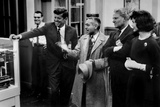 Sen John F Kennedy  Dr Alvin Weinburg  Sen Al Gore Sr  and Jackie Kennedy