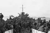 Troops of the 31st Infantry Regiment Land at Inchon Harbor  Korea  Aboard LST'S