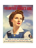 US Recruitment Poster for Red Cross Volunteer Nurse's Aide During World War 2  June 1943