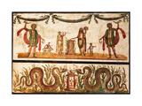 Lari Sacrificing and Agathodemon Snakes at Altar  C55-79