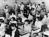 African American Students in a Segregated French Class at Dunbar High School  Washington  DC