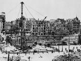 Bombed Buildings Along Vienna's Franz Josef Quay in Vienna