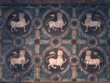 Fresco of Lions on Decorative Ground  11th C