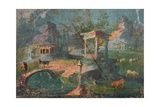 Landscape with Temple  Statue  Herders  and Animals  C 50-79