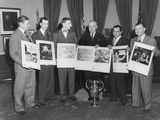President Harry Truman with Photographers and their Winning Photographs
