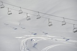 Ski Lifts in the Region of Bavarian Oberstdorf in Winter