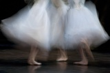 Long Exposure of Ballerinas Performing 'La Sylphide' at the Deutsche Opera  Berlin